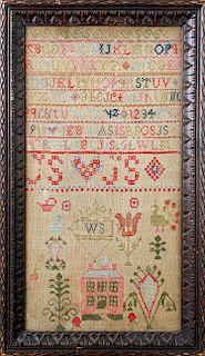 """English Needlework Sampler by """"WS"""""""