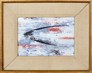 """Charles Green Shaw Oil on Artist's Board """"Tidal Curve"""""""