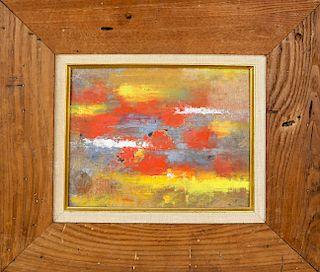 "Charles Green Shaw Oil on Artist's Board ""Caribbean"""