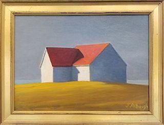 "Joan Albaugh Oil on Canvas ""Waiting"""