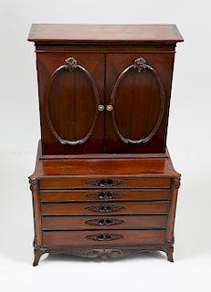 George III Style Mahogany Miniature Bookcase Cabinet