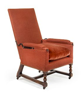 A Louis XIII Walnut Adjustable Easy Chair