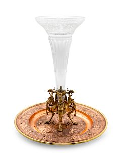A Neoclassical Gilt Metal Centerpiece