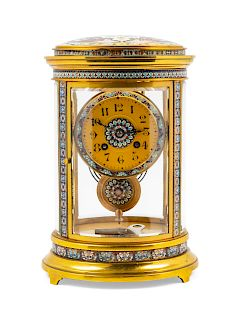 A French Champlevé Mantel Clock