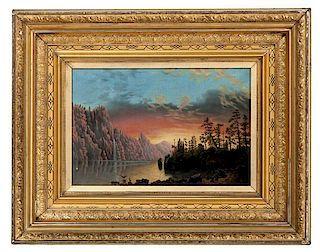 Nocturnal Landscape, Oil on Canvas