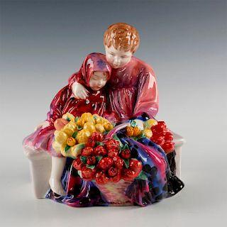 ROYAL DOULTON FIGURINE, FLOWER SELLER'S CHILDREN HN1342