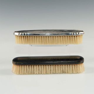PAIR OF VINTAGE CLOTHES BRUSHES; WOOD; 800 SILVER GERMAN