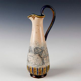 DOULTON LAMBETH HANNAH BARLOW INCISED DECORATED PITCHER