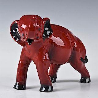 ROYAL DOULTON FLAMBE, ELEPHANT ANIMAL FIGURINE HN891