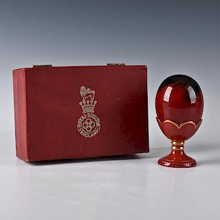 ROYAL DOULTON FLAMBE, EGG WITH STAND