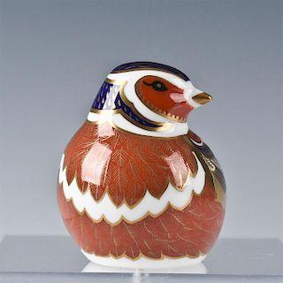 ROYAL CROWN DERBY BIRD FIGURINE, CHAFFINCH