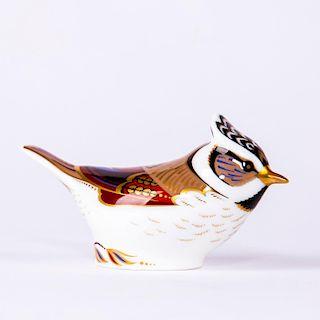 ROYAL CROWN DERBY BIRD FIGURINE, CRESTED TIT