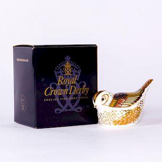 ROYAL CROWN DERBY BIRD FIGURINE, FIRECREST