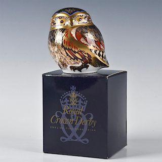 ROYAL CROWN DERBY BIRD FIGURINE, LITTLE OWL