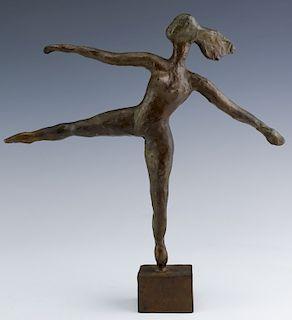 J James Akston American Modernist Bronze Sculpture