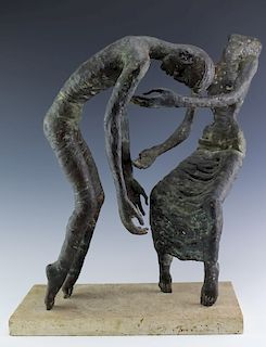 American Modernist Bronze Figural Sculpture