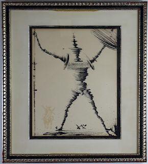 Salvadore Dali Don Quichotte Quixote Lithograph