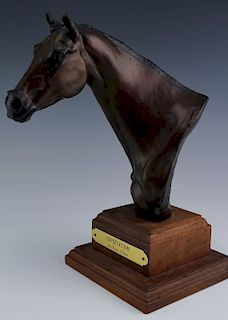Tara Brice Expectation L/E Bronze Horse Sculpture