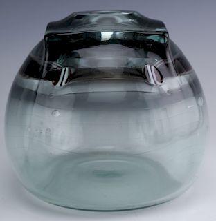 """Tom Patti Signed Studio Art Glass 5 1/2"""" Mod Vase"""