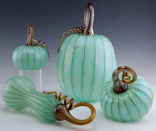 4 Jack Pine Studio Art Glass Squash Gourd Pumpkin