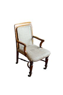 Antique English Library Chair