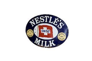 Vintage English Nestle's Enamel Advertising Sign