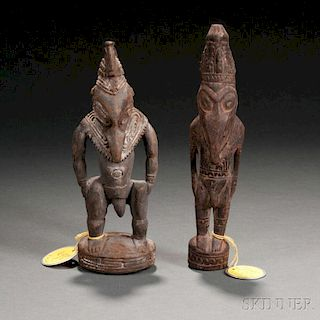 Two New Guinea Carved Wood Figures