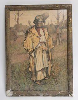 Ferry Reinold Vienna -Picturesque Peasant 1910 M/M