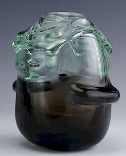 """Tom Patti Signed Studio Art Glass 3 3/4"""" Mod Vase"""