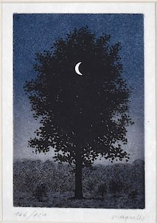 "Rene Magritte ""Le 16 Septembre"" Aquatint"