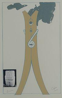 Claes Oldenburg Clothespin Aquatint