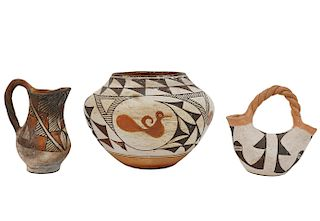 3 Pc. Assortment of Acoma Pottery