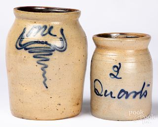 Two stoneware crocks