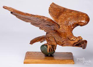 MB McKee carved eagle