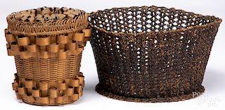 New England sailor made basket, etc.