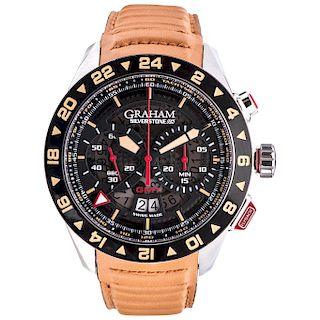 GRAHAM SILVERSTONE RS GMT REF. GR2VWGF 01 wristwatch.