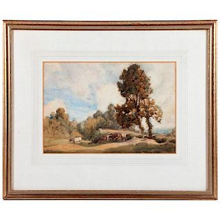 A late 19th/early20th century watercolor landscape by Arthur E. Vokes (1874-1964) signed lower left.