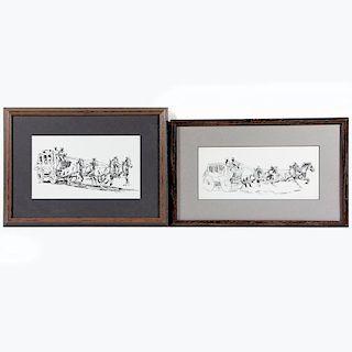 Two 20th century Edward Borein style prints.