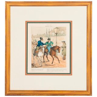An early 19th century English colored print signed Henry Alken (1785-1851).