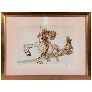 A print of Don Quixote by Claude Weisbuch (1927-2014).