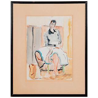 Watercolor Ernst Stoltz (1901-1989)