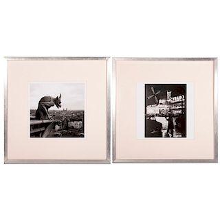 A pair of photographs of Paris landmarks.