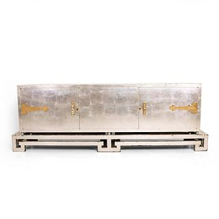 Mexican Modernist Credenza in Silver, by Frank Kyle
