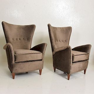 Mid-Century Modern Pair of Armchair by Gio Ponti for Bristol Hotel in Merano