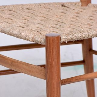 Set of Eight Italian Superleggera Dining Chairs Attributed to Gio Ponti