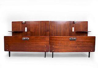 Mid-Century Modern Italian Bed by Osbaldo Borsani