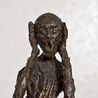 "Bronze Sculpture ""The Scream"" Edvard Munch Midcentury"