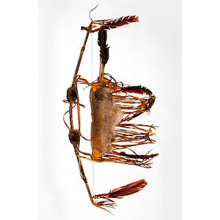NATIVE AMERICAN TRIBAL BOW AND ARROWS, WITH QUIVER
