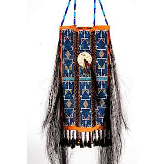 NATIVE AMERICAN TRIBAL LEATHER BREASTPLATE ARMOR