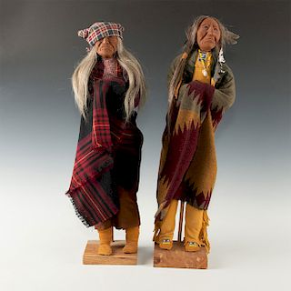 PAIR OF NATIVE AMERICAN PLAINS INDIAN DOLLS